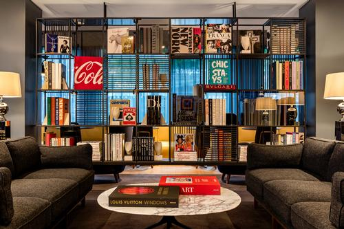 The Library has a Parisian-inspired aesthetic and is designed to be an extension of guests' bedrooms / Radisson