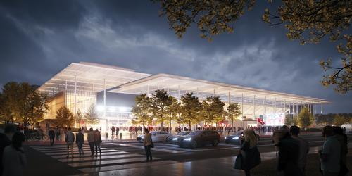 In addition to MLS fixtures, the stadium will host events like concerts, family shows and other sporting occasions / HOK