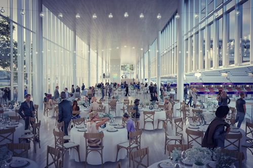 Spaces in the stadium will be available for event use / HOK