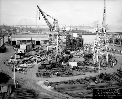 The Pier 70 shipyard was San Francisco's largest shipbuilding facility before it closed down in 1982 / Port of San Francisco