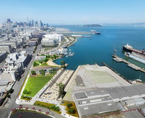 Crane Cove Park will cover an area of 9ac (4ha) / Port of San Francisco