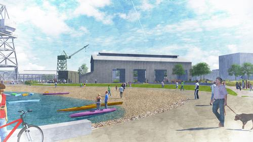 There will be a beach, which people will be able to use for relaxing, events and watersports / Port of San Francisco