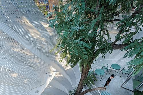 Visitors experience trees in different ways as they move around the centre / Wang Ning