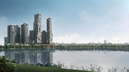 The Kiara Bay development will be based at the waterfront of the 140ac (57ha) Kepong Metropolitan Lake / UEM Sunrise and Melati Ehsan Group