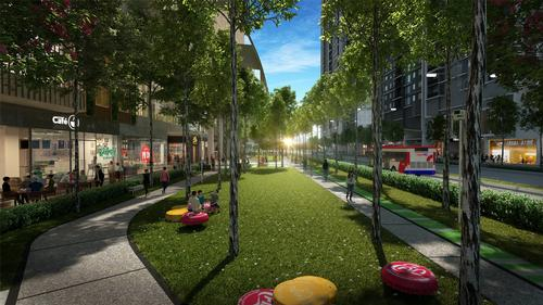 A pedestrian and cycle network will support healthier lifestyles, improve air quality and reduce vehicular traffic demand / UEM Sunrise and Melati Ehsan Group