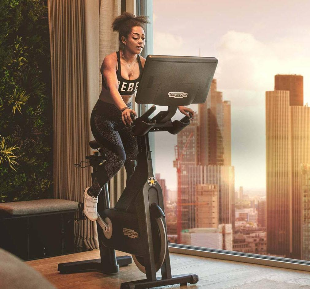 The Technogym Bike has been priced at £2,450 and the subscription for unlimited classes on the 1Rebel channel will cost £39 a month / 1Rebel/Technogym