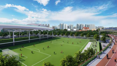 The Kallang Football Hub is scheduled to be the first venue completed next year / Pomeroy Studio