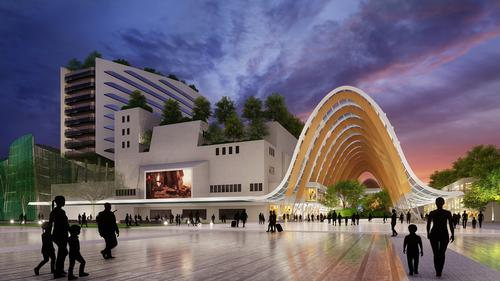 Kallang Theatre will be redeveloped into an integrated sport, entertainment and lifestyle centre / Pomeroy Studio