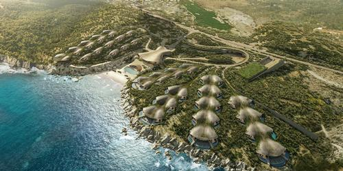 Rooms are arranged angled towards the ocean in parallel or branching rows / CG Verón