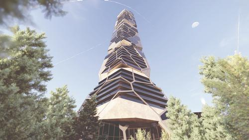 The tower will rise 670ft (204m) / MU Architecture