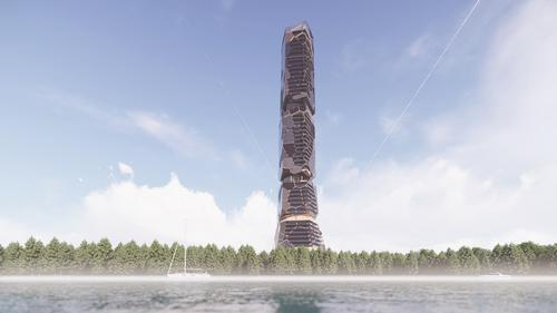 The site of the tower will cover 326,000sq ft (30,300sq m) / MU Architecture