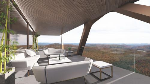 Amenities include an open space, a gym, a spa and a rooftop pool / MU Architecture