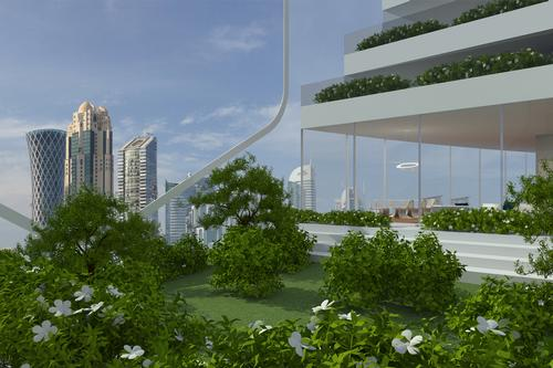 There are also green public spaces and vertical gardens in each module / Luca Curci Architects
