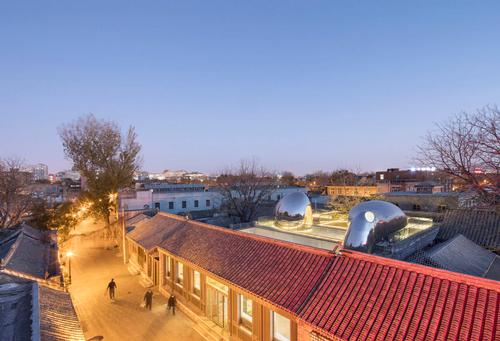 The Hutong Bubble 218 project is located in Beijing's Qianmen district / MAD Architects