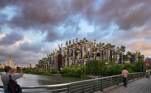 1000 Trees is located on a 15ac (6ha) site in Shanghai / Qingyan Zhu