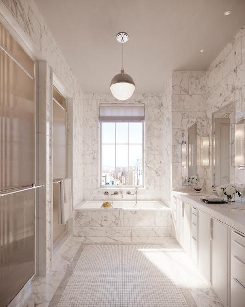 A typical bathroom at Beckford House & Tower / Noe & Associates / The Boundary