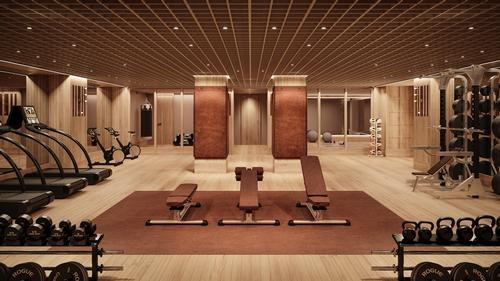 The fitness centre is part of over 3,000sq ft (280sq m) of wellness amenities in the Tower / Noe & Associates / The Boundary