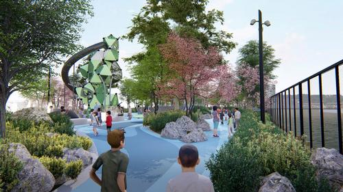 The pier will be shaped around a variety of spaces for different activities / !melk / Hudson River Park Trust