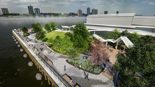 The reconstructed concrete pier measures 680x120ft (207x37m) / !melk / Hudson River Park Trust