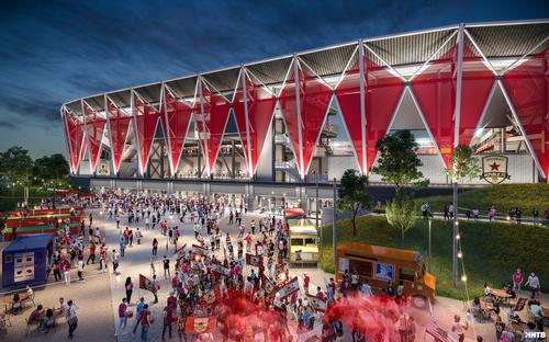 Construction of the stadium is due to begin in mid-2020 / HNTB