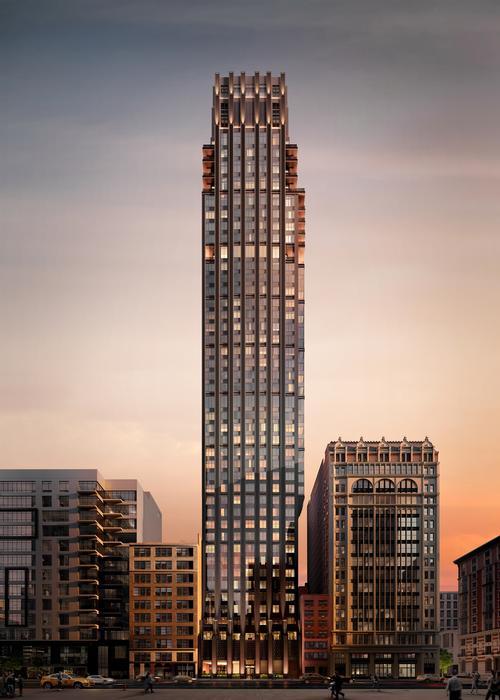 The tower will house 123 residences across 45 floors / Rockefeller Group