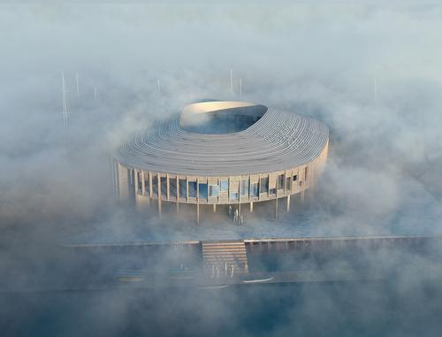 The building will be circular and will be built from wood / WERK/Snøhetta, visuals MIR