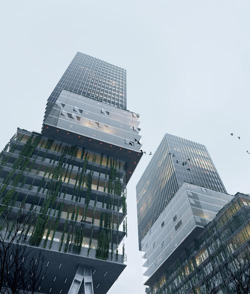 Residential buildings will be built with glass façades that reference the city's industrial architecture / Proloog
