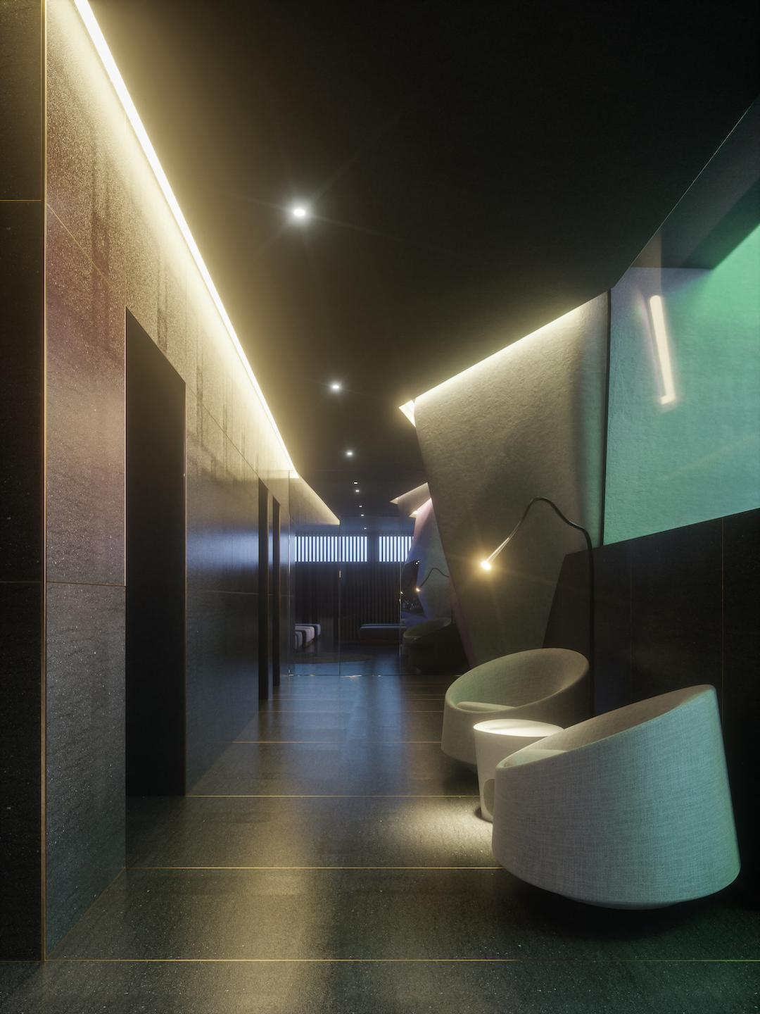 A Nordic atmosphere has been created across the four-level spa / Studio Apostoli