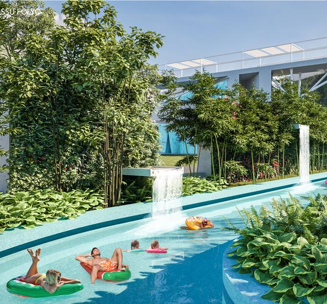 Amongst the pool experiences are lazy rivers, alongside more energetic activities