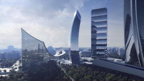 The Portico will join the Allianz Tower, the Generali Tower and the Libeskind Tower / Beauty and The Bit