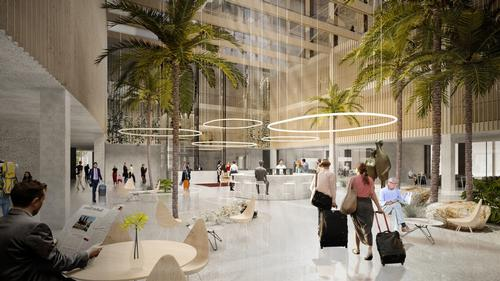 The development will combine workspace and public realm / Bjarke Ingels Group