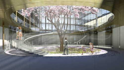 There will be planting in the outdoor spaces of the buildings / Bjarke Ingels Group