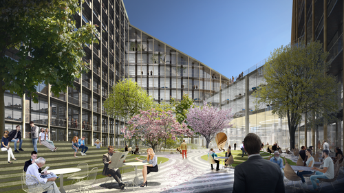 The two buildings will have outdoor space at their centres / Bjarke Ingels Group