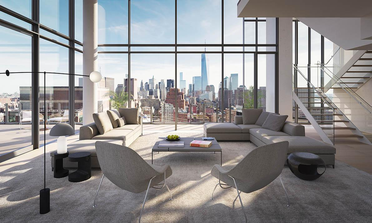 The tower offers views across Manhatten and over the Hudson River / The Boundary
