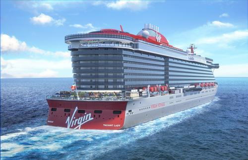 Renderings appear to show outdoor greenery and planting, sunbathing decks and places to eat and drink / Virgin Voyages