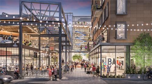 There will be a network of pathways and outdoor spaces between the buildings / Studio One Eleven
