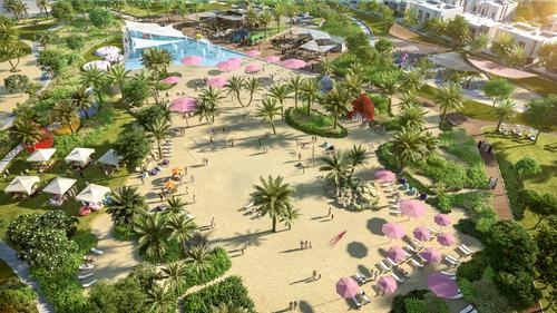 Among the public spaces will be an urban beach / Emaar