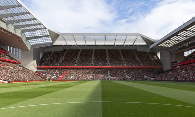The plans would increase the capacity of Anfield to over 61,000 / Liverpool FC