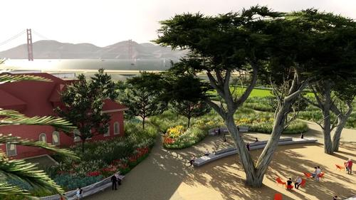 Visitors will be able to see the Golden Gate Bridge / James Corner Field Operations