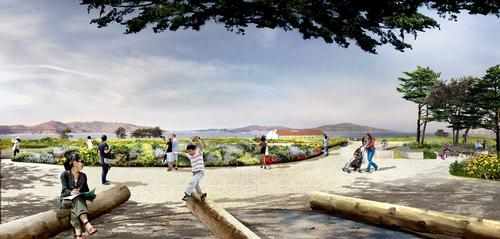 The park will give visitors views out into San Francisco Bay / James Corner Field Operations