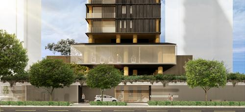 The complex will have three street-facing elevations / Studio Arthur Casas