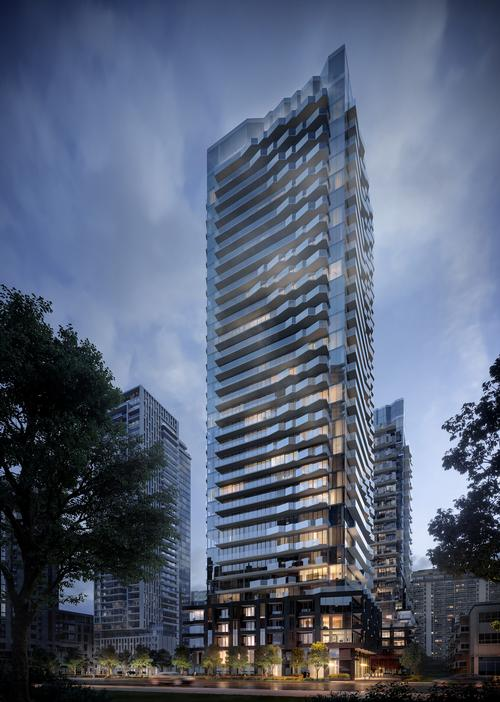 The tower houses 751 condominium suites ranging from studios to three bedrooms / Norm Li