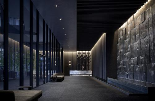 The palette emphasizes darker tones balanced with natural materials / Norm Li