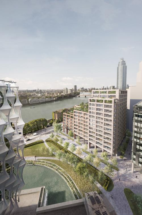 The building will be situated in the developing Nine Elms area of London