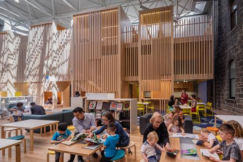 The library comprises 23 individual buildings and occupies an entire city block