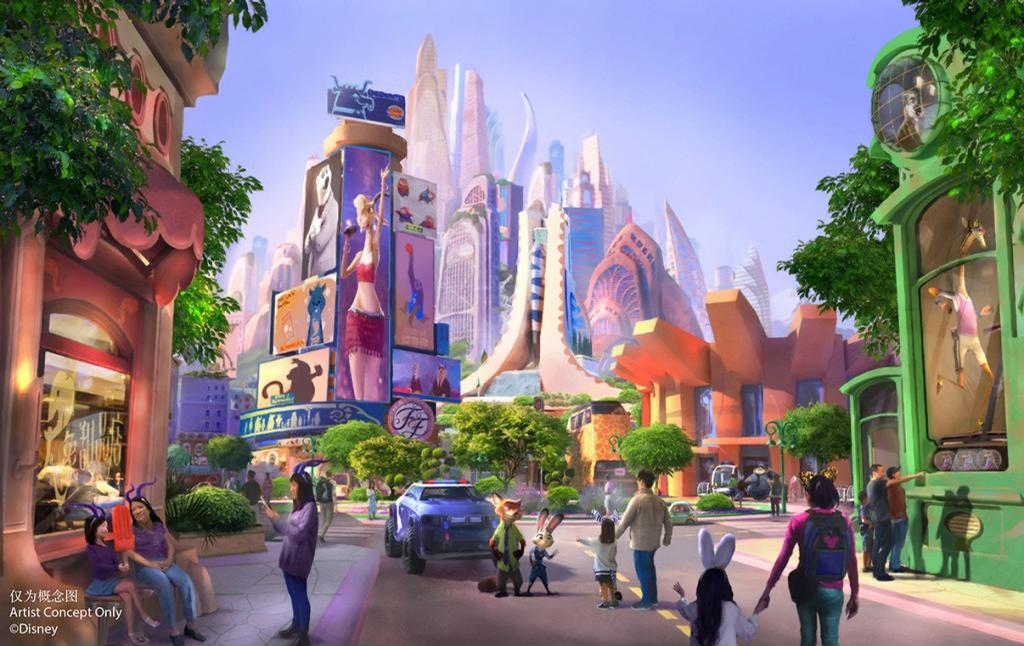 The new land will feature a host of fan favourite characters from the Walt Disney Animation Studios movie / Shanghai Disney Resort