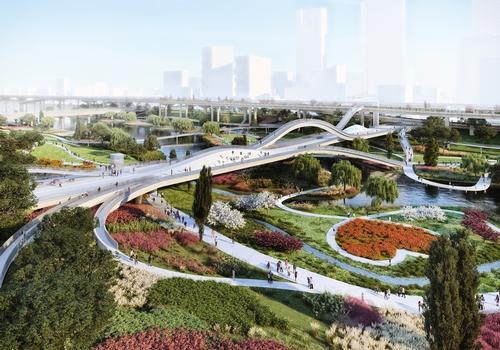 Hard landscaping will be replaced with greenery / MVRDV