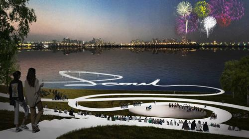 Amphitheatres will be integrated into the design as places for performances / MVRDV