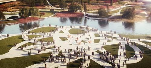 There will be plazas, viewing points, cafés and other amenities / MVRDV