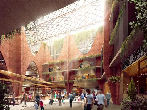 Retail space will be increased to over 8,000sq m (86,000sq ft) split across two levels / Woods Bagot